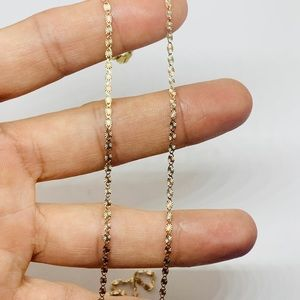 Jewelry - 10k Solid Multi-tone Gold Dainty Women's Necklace